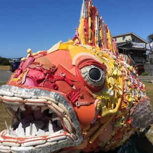 Henry the Fish, Washed Ashore's Flagship, May 2016 | Bandon, OR