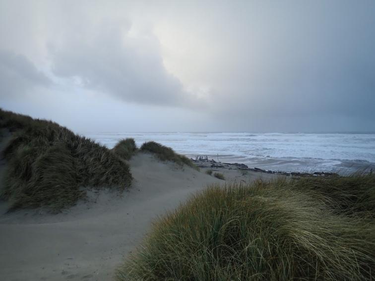 Low light, rough seas
