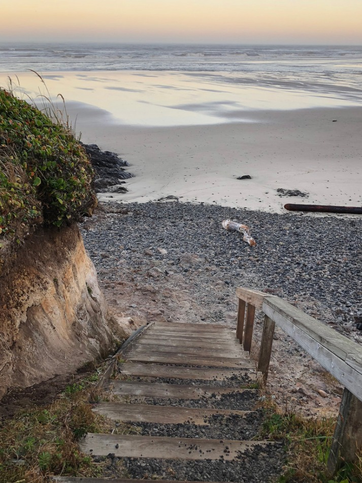 Stairs down to the beach | Dawn