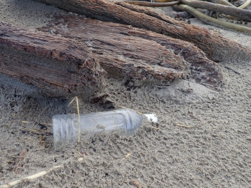 Plastic debris is a big component of the winter drift