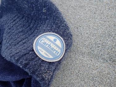 Navy blue Carhartt beanie